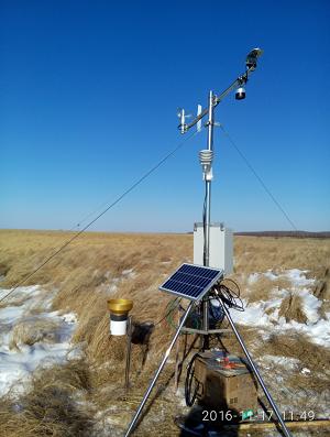 两套超声波雪厚测量系统在黑龙江省完成安装